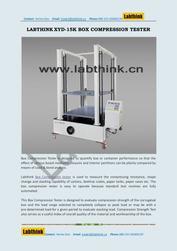 Labthink XYD-15K Compressive Testing Instrument for Boxes