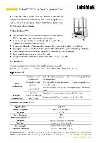 Logistics Carton Box Compression Laboratory Tester