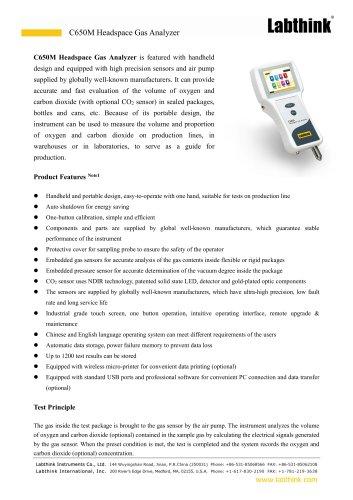 MAP Bags Carbon Dioxide Volume Measuring Instrument
