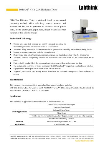 Mechanical Laboratory Composite Paper and Film Thickness Measuring Instrument Micron Measure