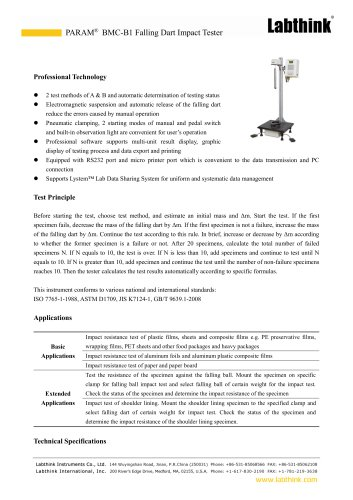 Medical Film Impact Force Measuring Equipment