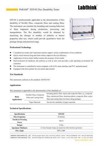 Moisture Barrier Coated Films Flex-Formed Pinhole Failures Gelbo Flex Tester