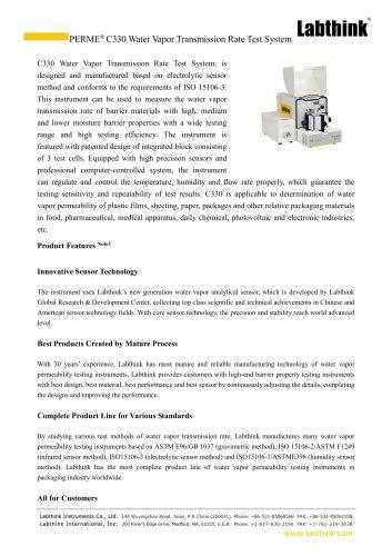 Moisture Barrier Properties of Aluminized Composite Film Testing System