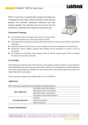 Negative Pressure Method Pharmaceuticals Packaging Seal Integrity Test Instrument