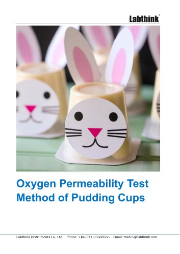 Oxygen Permeability Test Method of Pudding Cups
