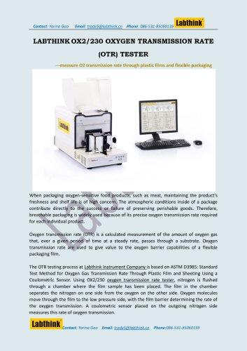 Oxygen Permeation Testing Equipment
