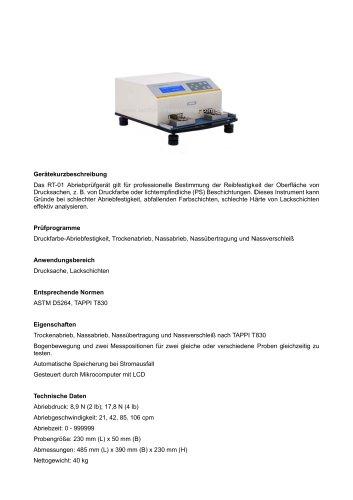 Papier Abrieb-Testmaschine