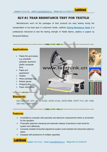 Pendulum Method Propagation Tear Resistance