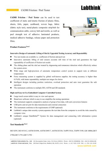 Precision Protection Films Peel Force Tester