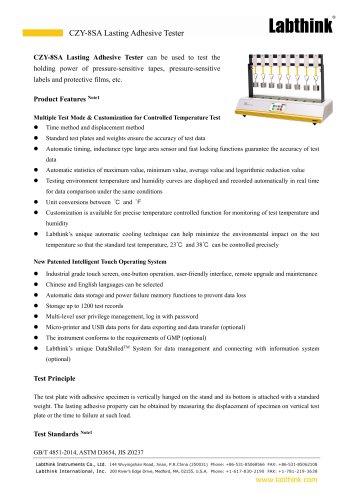 Pressure-Sensitive Tape Automatic Last Adhesion Tester