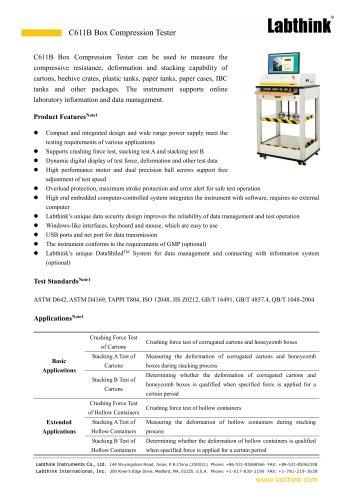 Shipment Carton Compression Resistance Tester