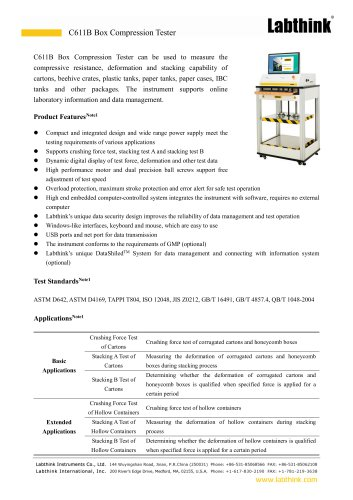 Shipping Containers Compression Resistance Determination Equipment