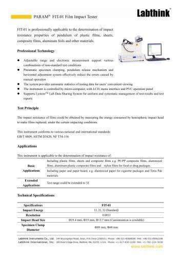 Skin Pack Film Puncture Testing Instrument