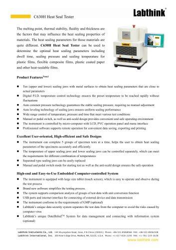 Standard Stand-Up Pouch Heat Seal Strength Test Equipment