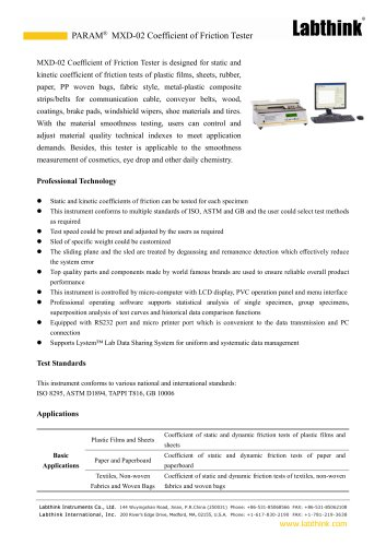 Surface Frictional Force Measuring Equipment