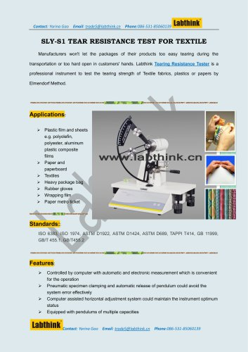 Tear Force Test Equipments for Rubber Gloves