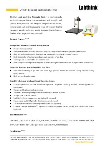 Testing Plastic Packaging Bags Sealing Strength Tester