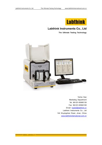 water vapour permeation analyzer for packaging materials from Labthink