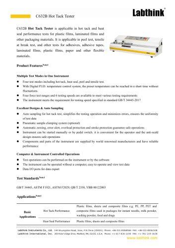 Wide Range Aluminized Films Heat Seal Strength Measuring Instrument