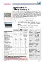 Catalogue 2017 - Datalogger series Hygro/Data/ClimaLog