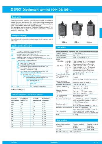 Disgiuntori termici 104/105/106
