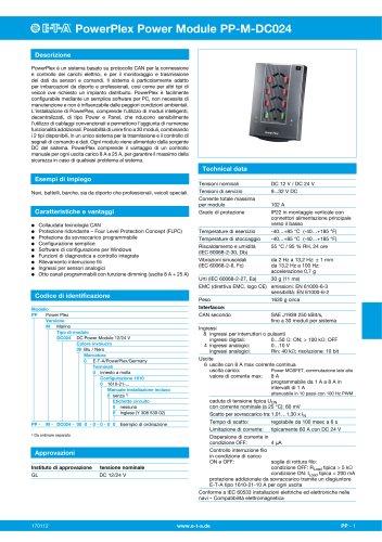 PowerPlex è un sistema basato su protocollo CAN