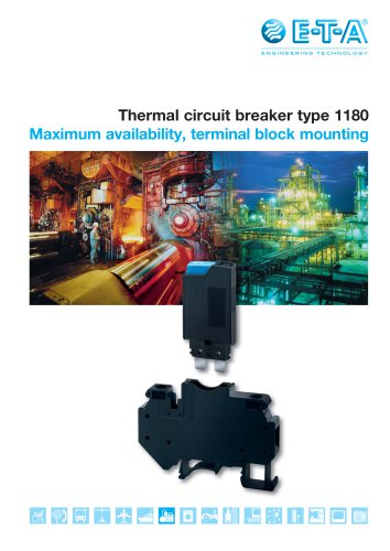 Thermal circuit breaker type 1180