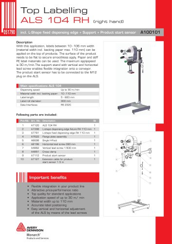 ALS 104 Right Hand Top-Labelling