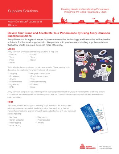 Avery Dennison® Labels and Ribbon