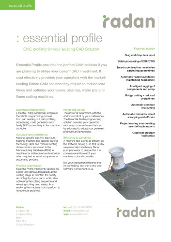 RADAN Essential Profile