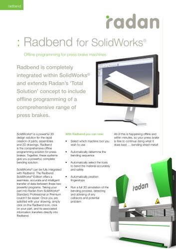 RADAN Radbend for Solid Works