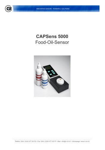 CAPSens 5000 product information