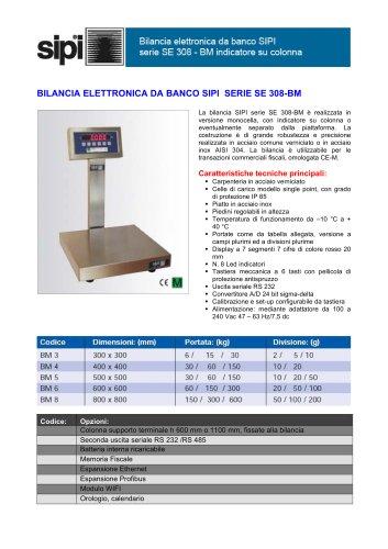 BILANCIA ELETTRONICA DA BANCO SIPI SERIE SE 308-BM