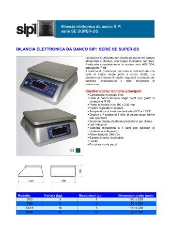 Bilancia elettronica da banco SIPI  serie  SE  SUPER-SS