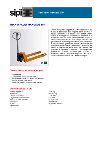 TRANSPALLET MANUALE SIPI