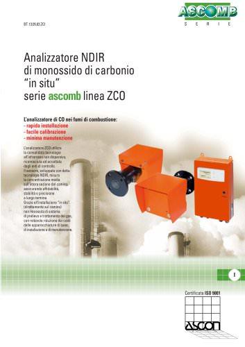 Analizzatore NDIR di monossido di carbonio in situ serie ascomb linea ZCO