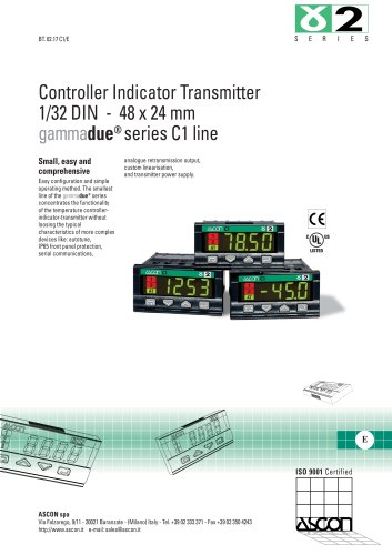 Controller Indicator Transmitter 1/32 DIN - 48 x 24 mm