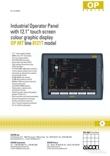 Industrial operator panel