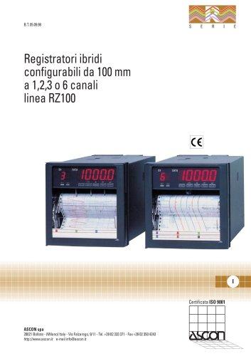 Registratori ibridi configurabili da 100mm a 1,2,3 o 6 canali