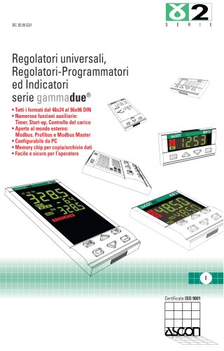 Serie Gammadue - Regolatori Universali, Regolatori-Programmatori ed Indicatori