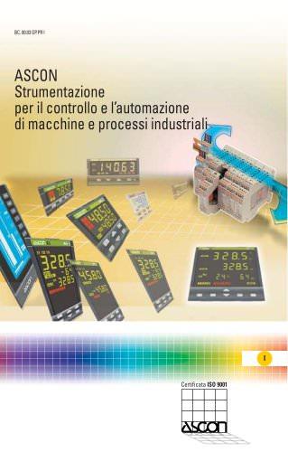 Strumentazione per il contollo e l'automazione di macchine e processi industriali