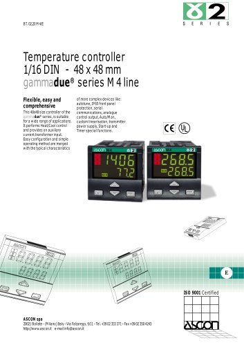 Temperature controller 1/16 DIN - 48 x 48 mm