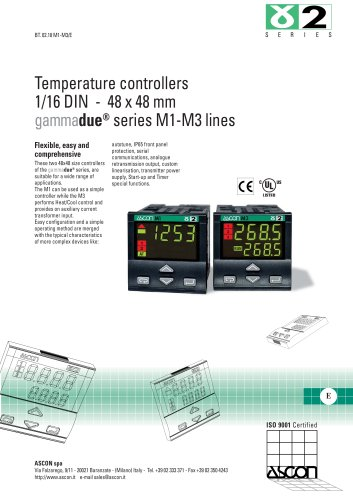 Temperature controllers 1/16 DIN - 48 x 48 mm