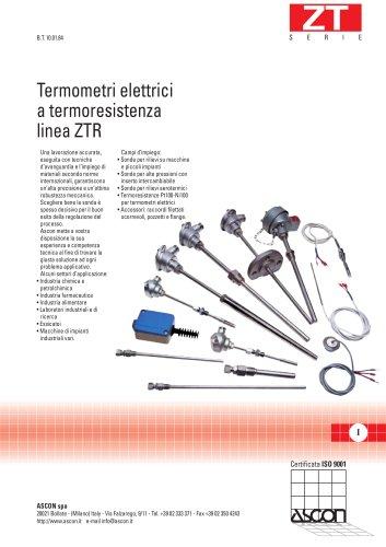 Termometri elettrici a termoresistenza linea ZTR