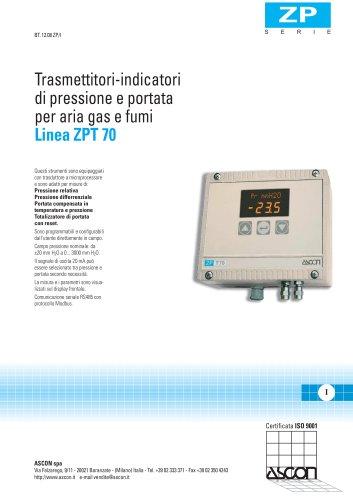 Trasmettitori-indicatori di pressione e per aria gas e Linea ZPT 701 portata fumi