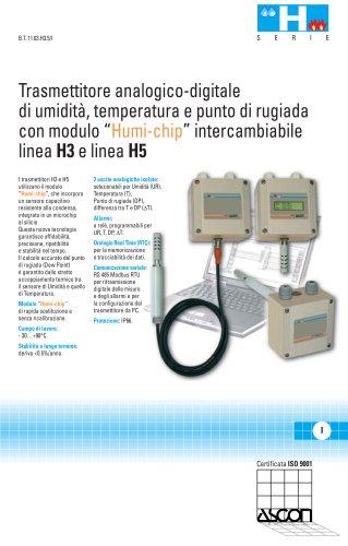 Trasmettitori di Umidità, Punto di Rugiada e Temperatura - Serie H3 e H5