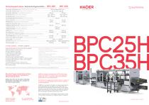 MACHINES FOR BLISTERPACK: BPC25H/ BPC35H