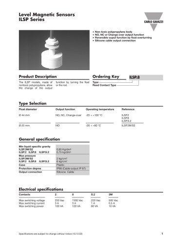 Conductive Level Sensors  ILSP.8