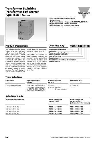 Motor Controllers TSE6-1A1113100