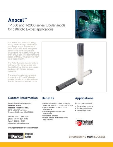 Anocel? T-1500 and T-2000 series
